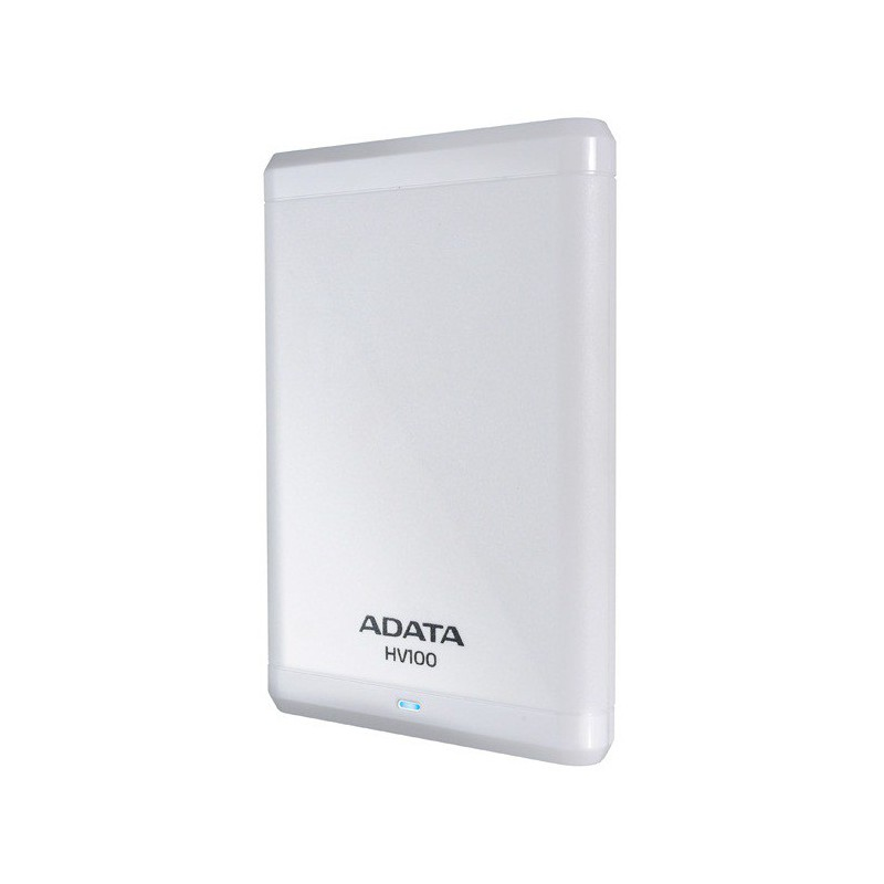 disque dur externe adata hv100 500 go usb 3 0 blanc. Black Bedroom Furniture Sets. Home Design Ideas