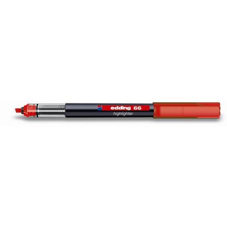 Surligneur Fluo Edding e-66 / Rouge