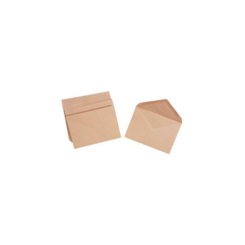 10x Enveloppes Marron 76 x 120 mm