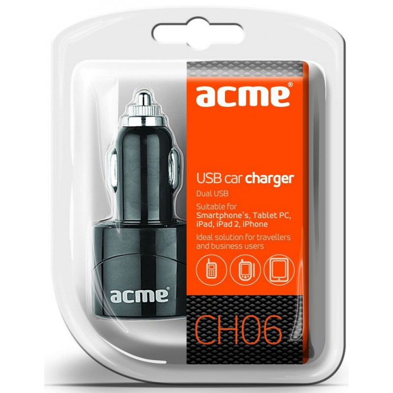 Chargeur Double USB AllumeCigare Acme CH06 5V / 2.1A