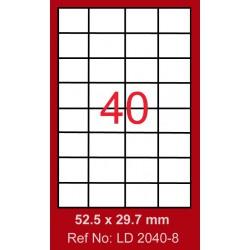 4000x Etiquettes LINDO 100/40E / 52.5 x 29.7 mm