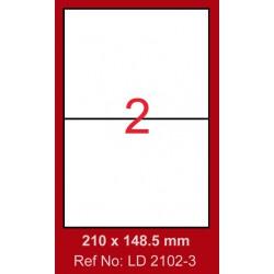 200x Etiquettes LINDO 100/2E / 210 x 148.5 mm