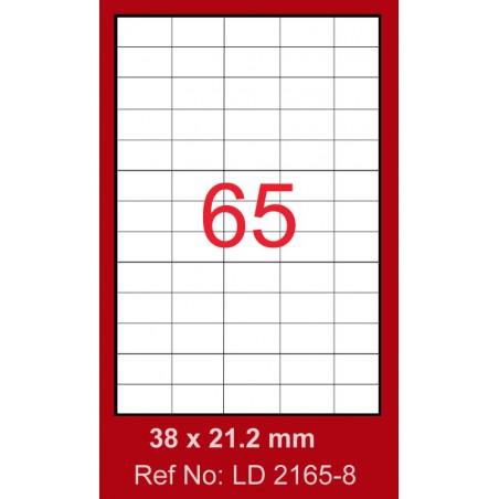 6500x Etiquettes LINDO 100/65E / 38 x 21.2 mm