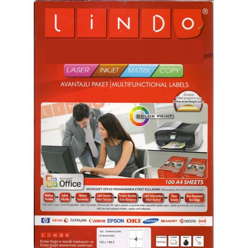 400x Etiquettes LINDO 100/4E / 105 x 148.5 mm
