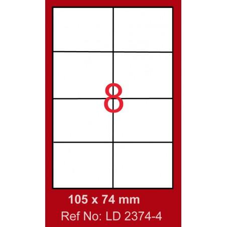 800x Etiquettes LINDO 100/8E / 105 x 74 mm