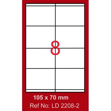 800x Etiquettes LINDO 100/8E / 105 x 70 mm