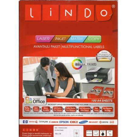 1600x Etiquettes LINDO 100/16E / 105 x 35 mm