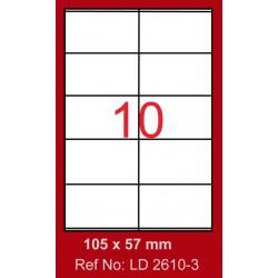 1000x Etiquettes LINDO 100/10E / 105 x 57 mm