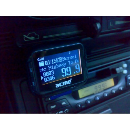 Allume Cigare Radio FM / Lecteur Cartes / Lecteur MP3 Acme F200-01