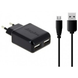 Chargeur Allume Cigare double + Câble Micro USB pour Smartphone