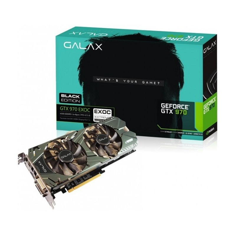 Carte graphique Galax GeForce GTX 970 Black Edition 4 Go