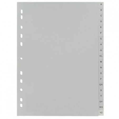 Intercalaire de séparation Alphabétique Format A4 A-Z