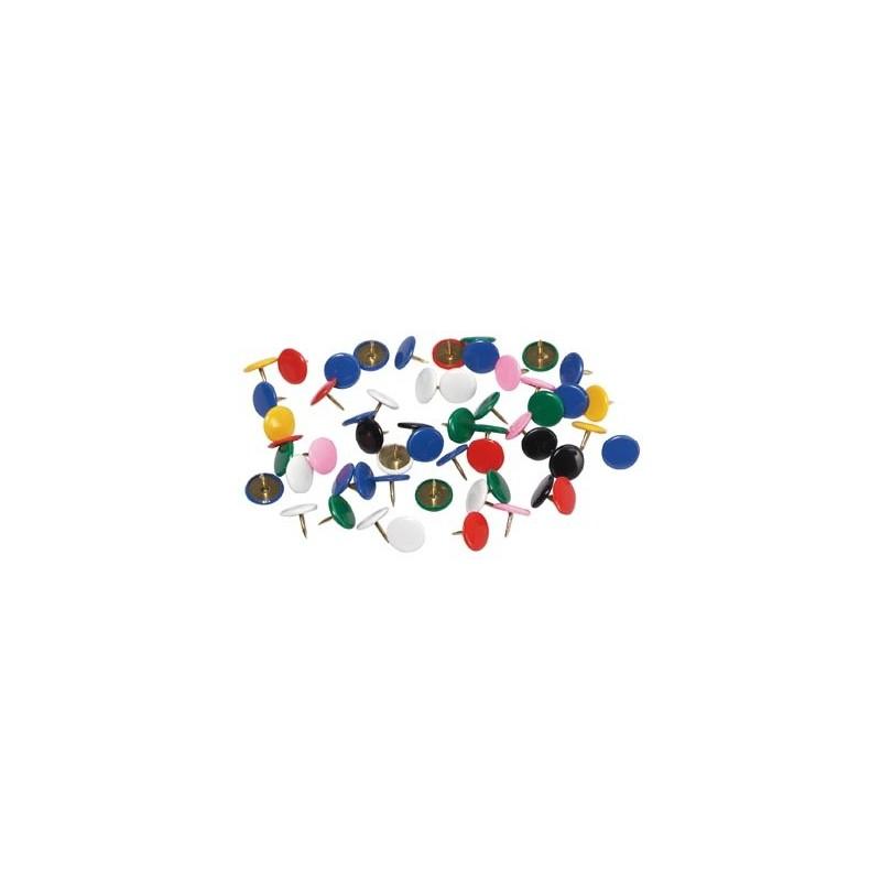 100 Punaises en Métal Plastique pour tableau liège