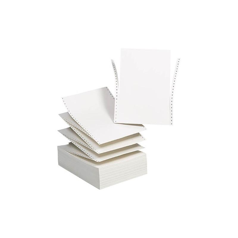 Papier Listing 1ex 11x24 cm / 1000 Feuilles / Blanc