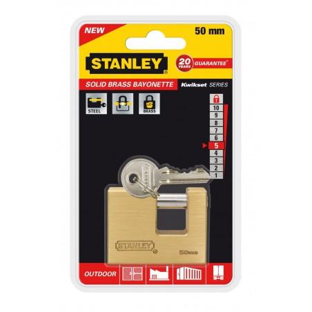 Cadenas à clé en acier trempé Stanley / 50mm