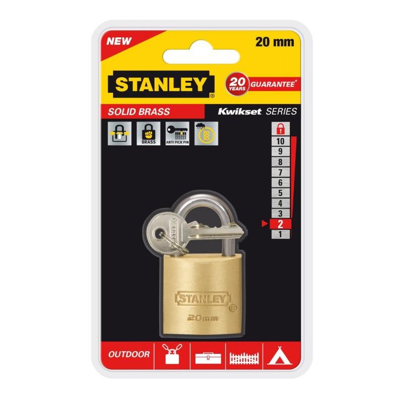 Cadenas à clé en laiton Or Stanley / 20mm