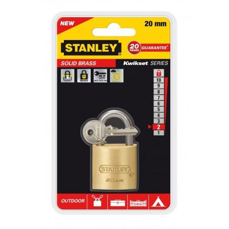 Cadenas à clé laiton Stanley / 20mm