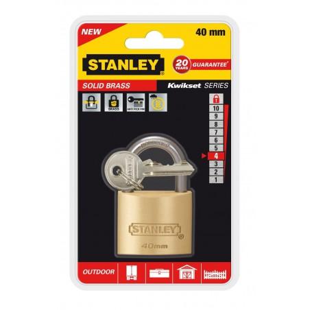 Cadenas à clé laiton Stanley / 40mm