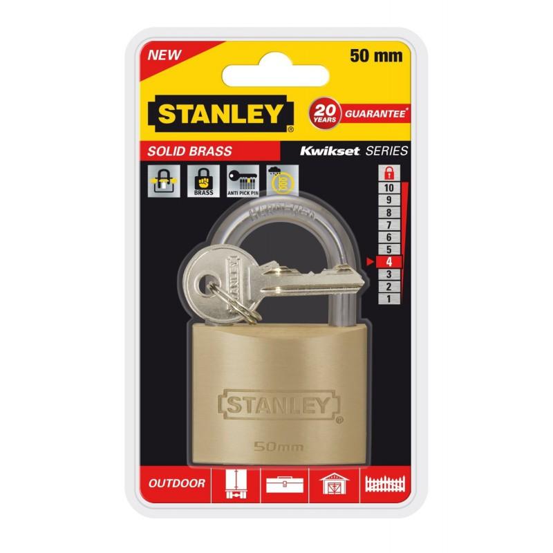 Cadenas à clé en laiton Or Stanley / 50mm