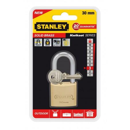 Cadenas à clé laiton Stanley / 30mm