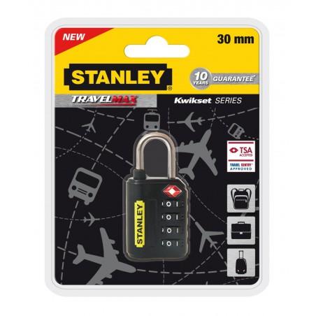Cadenas de voyage Stanley à combinaison 4 chiffres avec indicateur TSA / 30mm