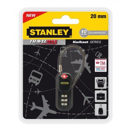 Cadenas de voyage Stanley à combinaison 3 chiffres / Ance câble 20mm