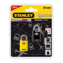 2x Cadenas de voyage à clé unique avec indicateur TSA / 20mm