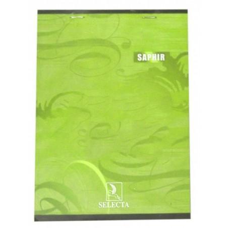 Bloc Saphir agrafé en tête A4 / 100 pages 5x5