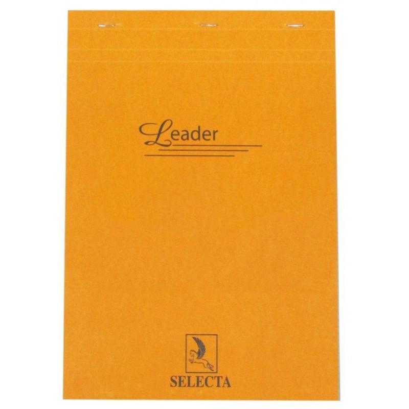 Bloc Leader agrafé en tête A6 / 160 pages 5x5