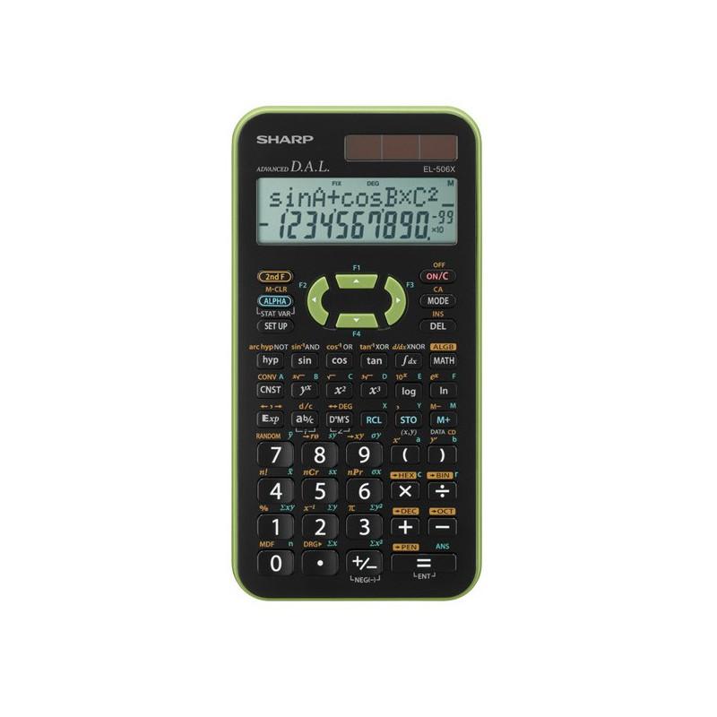 Calculatrice Scientifique Sharp EL-506X / Vert