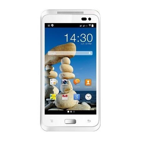 Téléphone Portable Accent A455C / Double SIM / Blanc + 2 Coques