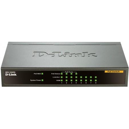 Switch Fast Ethernet pour bureau 8Ports avec 4POE