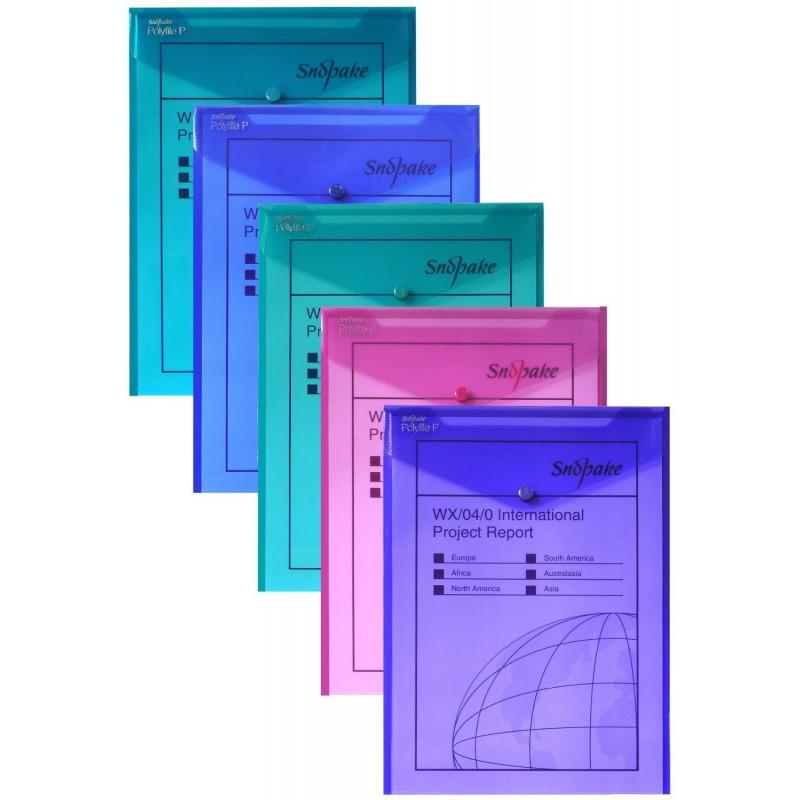 5x Pochettes de classement Snopake Polyfile P A4