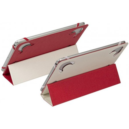 "Etui double-face pour tablette 7""-8"" Blanc/Rouge"