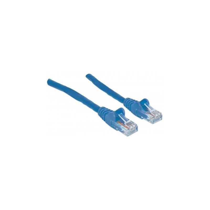 Câble RJ45 Cat 6 UTP 0.5M Bleu