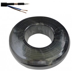 Câble caméra 200M SYV-75-3 + RVV 2x0.5