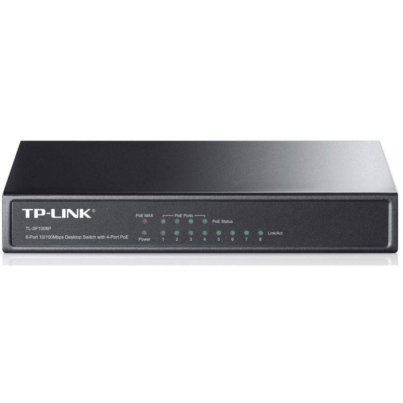 Switch de bureau 8 ports 10/100Mbps + 4 Ports PoE