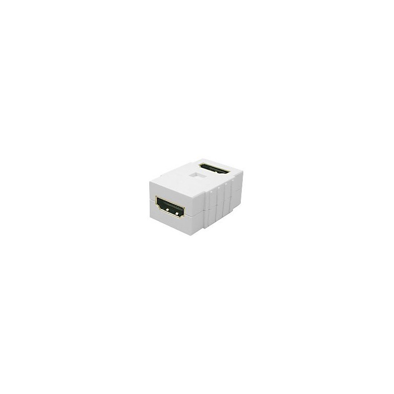 Coupleur HDMI femelle / femelle à 90°