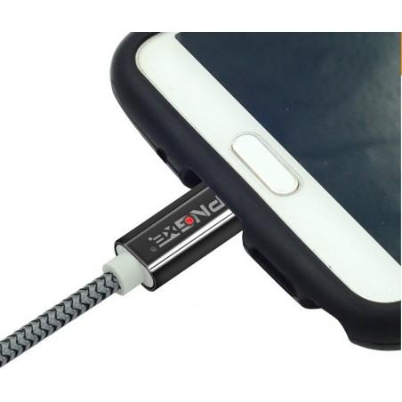Câble USB Vers Micro USB Blindé Zink 1.5m