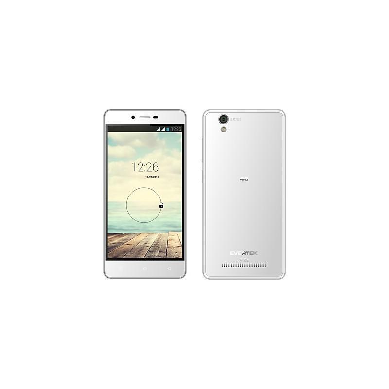 Téléphone Portable Evertek EverMiracle Plus / Double SIM / Blanc + SIM Offerte
