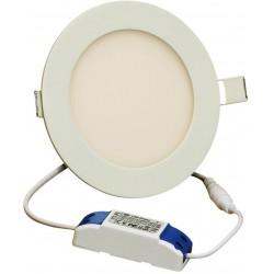 Panneau LED Plafonnier rond 9W Jaune 145x145x13