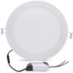 Panneau LED Plafonnier rond 12W Blanc17mm