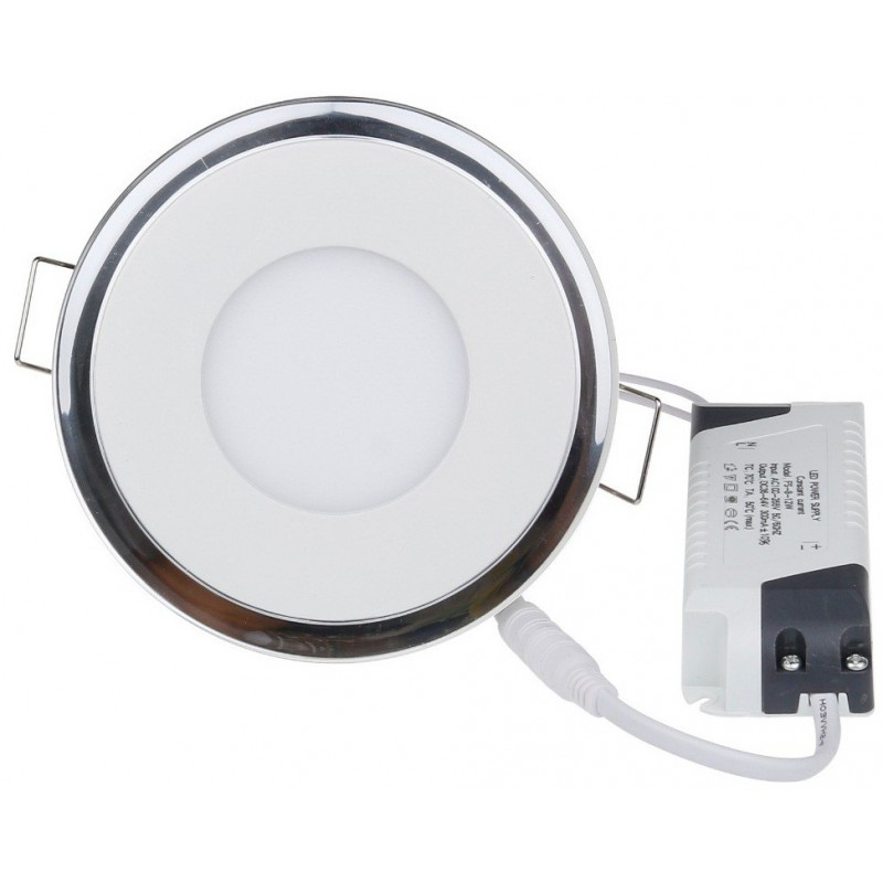 Panneau LED Plafonnier rond 5+2W Blanc et Jaune 13mm