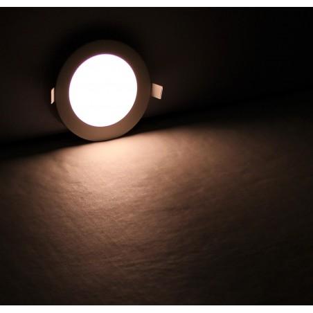 Panneau LED Plafonnier rond 9W Blanc Chaud 145x145x13