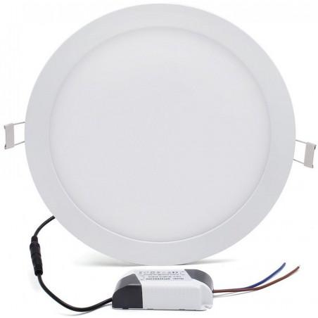 Panneau LED Plafonnier rond 9W Blanc Chaud 145mm