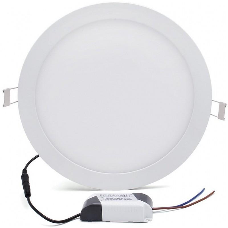 Panneau LED Plafonnier rond 6W Blanc Chaud 12mm