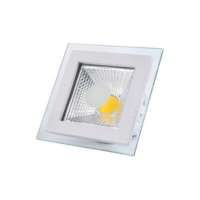 Panneau LED Plafonnier carré COB 6W Lumière du jour