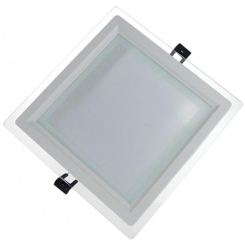 Panneau LED Plafonnier Carru00e9 6W Lumiu00e8re Du Jour
