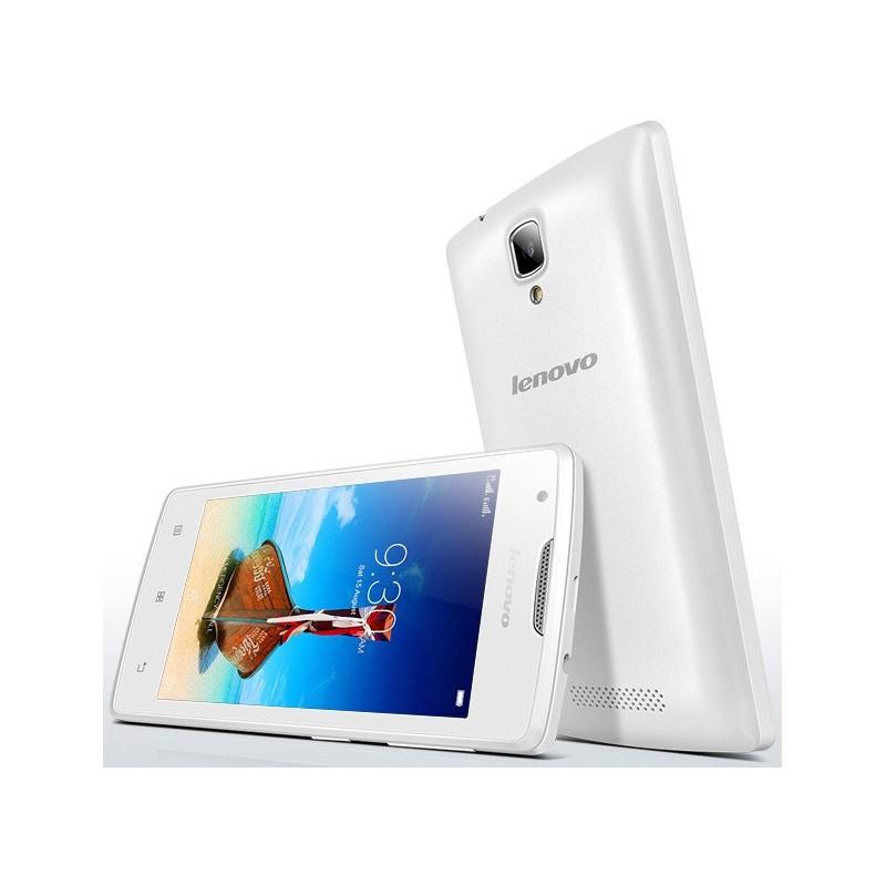 Téléphone Portable Lenovo A1000 / Double SIM / Blanc + SIM Offerte
