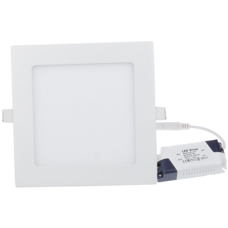 Panneau LED Plafonnier Carré 18W Blanc